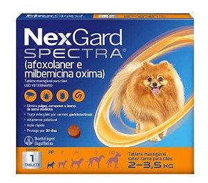 Antipulga NexGard Spectra 2 A 3,5kg Caixa Com 1 Tablete