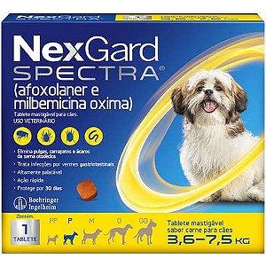 Antipulga NexGard Spectra 3,6 A 7,5kg Caixa Com 1 Tablete