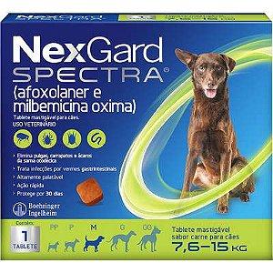 Antipulga NexGard Spectra 7,6 A 15kg Caixa Com 1 Tablete