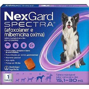 Antipulga NexGard Spectra 15,1 A 30kg Caixa Com 1 Tablete
