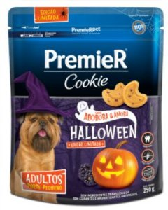 Cookie Premier Cães Adultos Halloween Abóbora e Amora Edição Limitada 250g