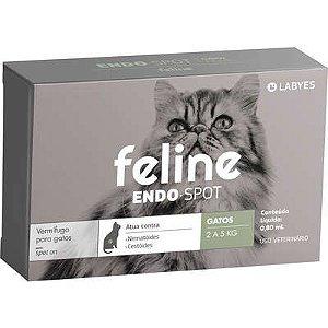 Vermífugo Feline Endospot Gato 2 a 5Kg
