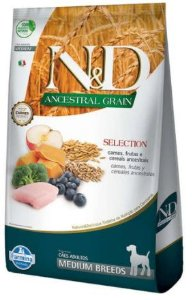 Ração N&D Ancestral Selection Cão Adulto Medium Breeds Carnes E Frutas 15,1kg