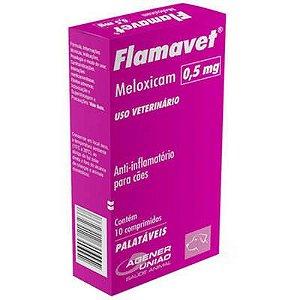 Anti-Inflamatório Flamavet 0,5mg Caixa Com 10 Comprimidos