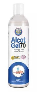 Álcool Gel Alcat 70 para Tutores De Pets 500ml