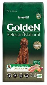 Ração Golden Seleção Natural Cão Adulto Frango E Arroz 12kg