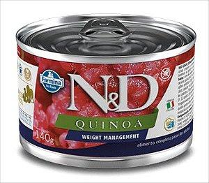 N&D Quinoa Cão Lata Weight Management 140g