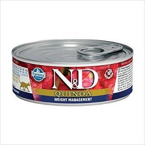 Lata N&D Quinoa Para Gatos Adultos Weight Managemente 80g