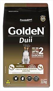Ração Golden Duii Cão Adulto Pequeno Porte Frango E Carne 3kg