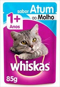Sachê Whiskas Gato Adulto 1+ Atum Ao Molho 85g