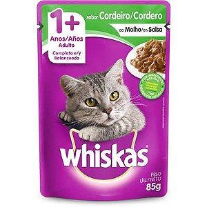 Sachê Whiskas Gato Adulto 1+ Cordeiro Ao Molho 85g
