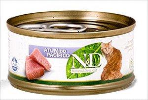 Lata N&D Gato Adulto Atum Do Pacifico 70g