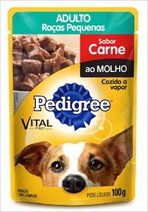 SACHE PEDIGREE CAO ADULTO RAÇA PEQUENA CARNE AO MOLHO 100G