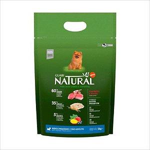 Ração Guabi Natural Cao Adulto Raça Pequena Cordeiro E Aveia 1kg