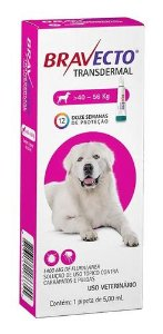 Antipulgas Bravecto Transdermal Cão 40 A 56kg 1400mg