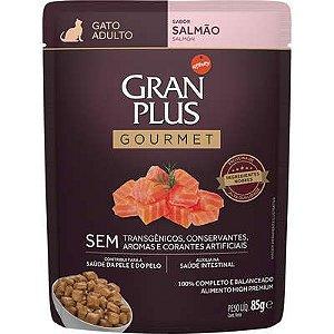 Sachê Gran Plus Gourmet Gato Adulto Salmão 85g