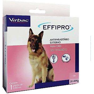Antipulgas Effipro Cão 20kg A 40kg Com 1 Pipeta De 2,68ml