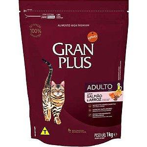 Ração Gran Plus Gato Adulto Salmão E  Arroz 1kg