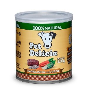 Lata Pet Delicia Cão Adulto Panelinha Carne 320g