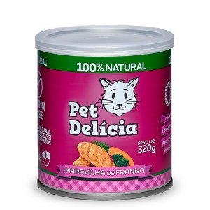 Lata Pet Delicia Gato Adulto Maravilha Frango 320g