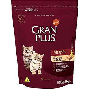 Ração Gran Plus Gato Filhote Frango E Arroz 3kg