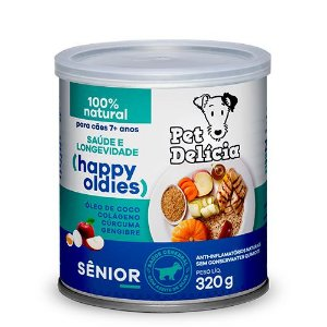 Lata Pet Delicia Cão Senior Happy Oldies 320g