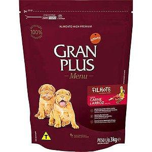 Ração Gran Plus Menu Cão Filhote Carne E Arroz 3kg