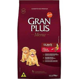 Ração Gran Plus Menu Cão Filhote Carne E Arroz 15kg