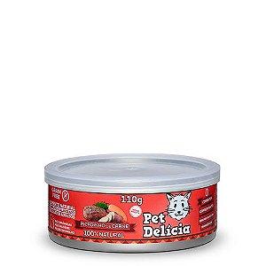Lata Pet Delicia Gato Adulto Picadinho De Carne 110g