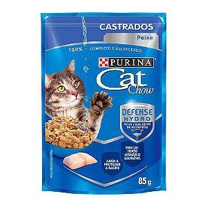 SACHE CAT CHOW GATO CASTRADO PEIXE AO MOLHO 85G