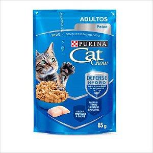 Sache Cat Chow Gato Adulto Peixe Ao Molho 85g
