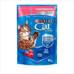 Sachê Cat Chow Gato Castrado Carne 85g