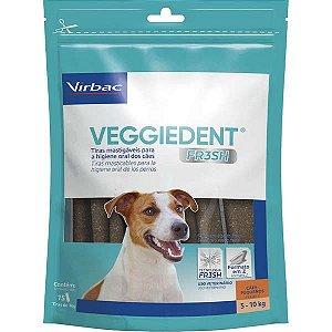 Tiras Mastigáveis Veggiedent Fresh Cão 5 A 10kg Caixa Com 15 Unidades