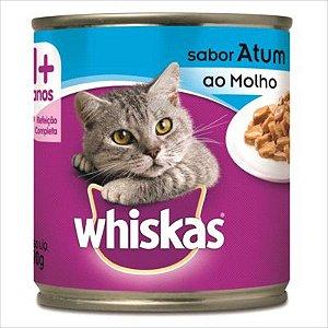 Lata Whiskas Gato Adulto Atum Ao Molho 290g
