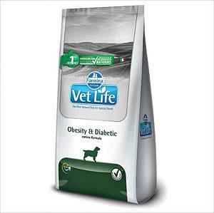 Ração Vet Life Cão Obesity Diabetic 2kg
