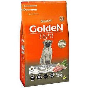 Ração Golden Light Cão Adulto Pequeno Porte Frango E Arroz 3kg