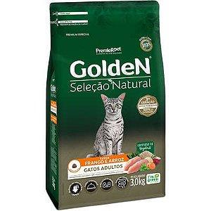Ração Golden Seleção Natural Gato Adulto Frango E Arroz 3kg