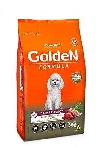 Ração Golden Fórmula Cão Adulto Pequeno Porte Carne E Arroz 15kg