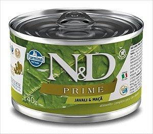 Lata N&D Prime Cão Adulto Javali E Maça 140g