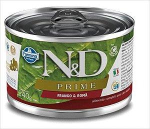 Lata N&D Prime Cão Adulto Frango E Roma 140g