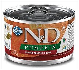Lata N&D Pumpkin Cão Adulto Abobora Frango E Roma 140g