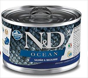 Lata N&D Ocean Cão Adulto Salmão E Bacalhau 140g