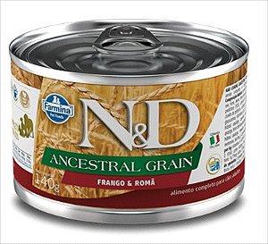 Lata N&D Ancestral Grain Cão Adulto Frango E Roma 140g