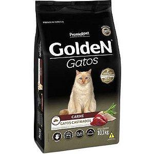 Ração Golden Gato Adulto Castrado Carne 10,1kg