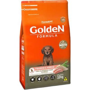 Ração Golden Fórmula Cão Filhote Pequeno Porte Frango E Arroz 3kg