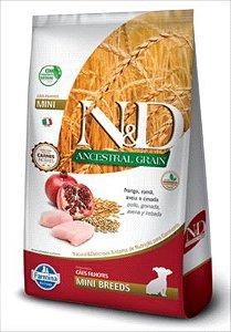 Ração N&D Ancestral Grain Cão Filhote Mini Breeds Frango Roma 800g