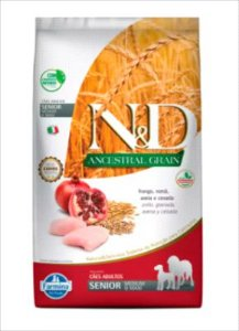 Ração N&D Ancestral Grain Cão Senior Medium/Maxi Breeds Frango E Roma 2,5kg