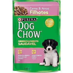 Sache Dog Chow Cao Filhote Carne E Arroz 100g