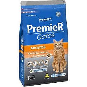 Ração Premier Ambientes Internos Gato Adulto Frango 500g