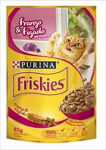 Sache Friskies Gato Adulto Frango E Figado Ao Molho 85g